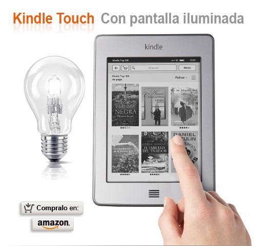 nuevo kindle touch pantalla iluminada