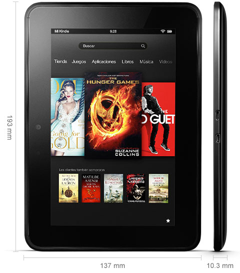 kindle fire hd características